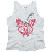 Brisco Brands Free Butterfly Love Life BCA Tank Top T-Shirt For Women