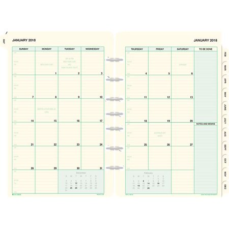 Day Timer 2 Page Per Month Tabbed Calendars Desk Size   July Start Refills