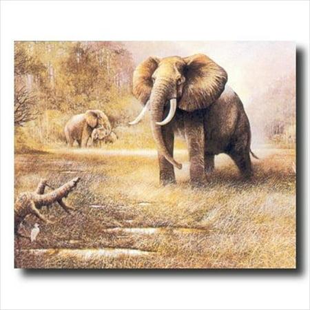 (African Elephant Safari Wall Picture Art Print)