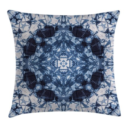 Tie Dye Decor Throw Pillow Cushion Cover, Microcosm Motif Generated with Digital Large Volume Active Rough Effect, Decorative Square Accent Pillow Case, 18 X 18 Inches, Royal Blue White, by (The Active Ingredient In Cloves Causes Damage By)