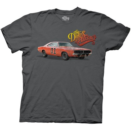 Dukes of Hazzard General Lee Vintage Distressed Charcoal Youth T-shirt Distressed Baby Tee