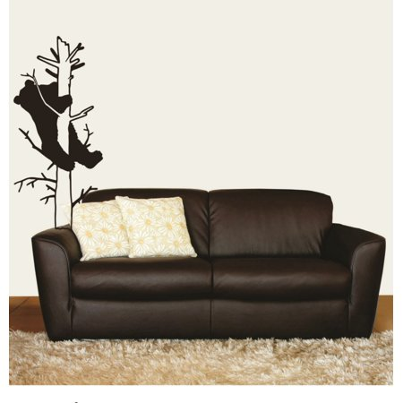 Bear Climbing a Tree Animal Picture Art Bedroom Home Living Room Design - Peel & Stick Sticker - Vinyl Wall Decal 16 X 48 Inches thumbnail