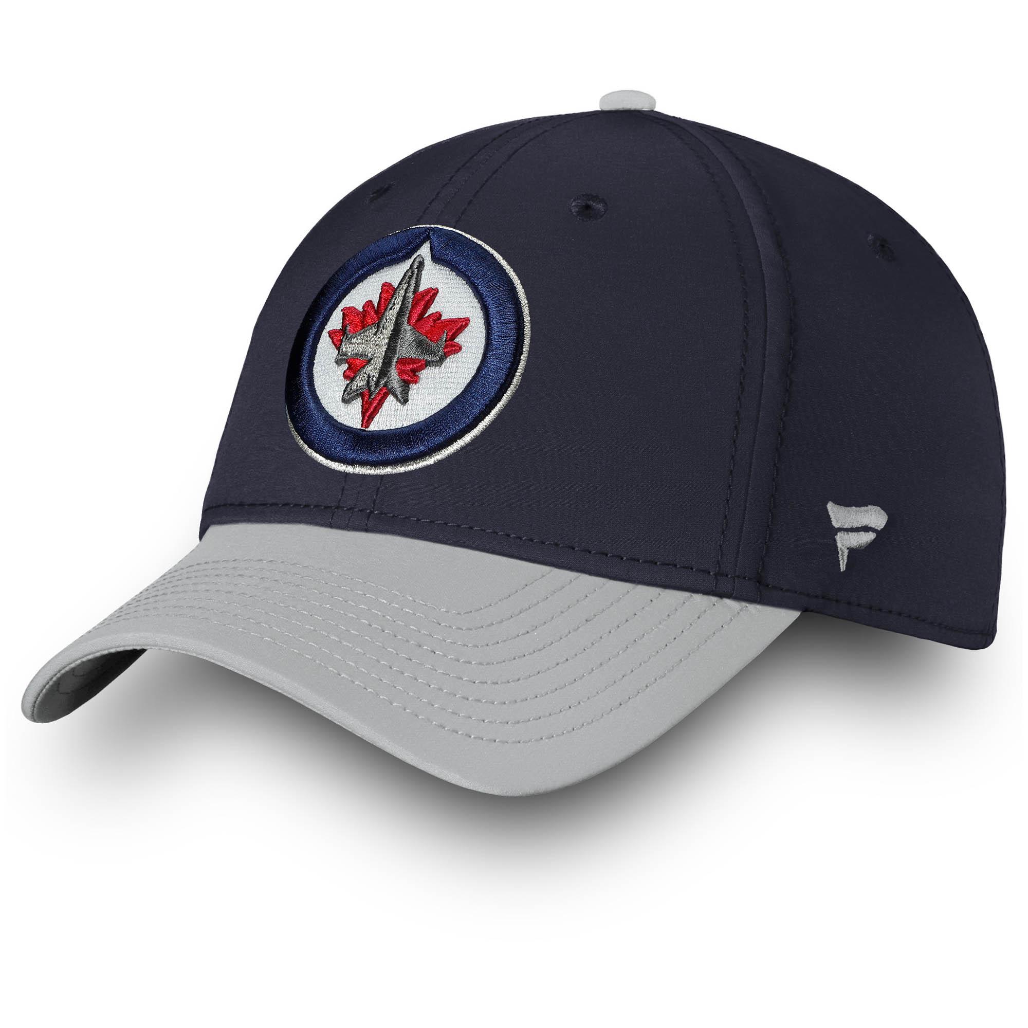 Winnipeg Jets Fanatics Branded Iconic Tech Speed Flex Hat - Navy/Gray