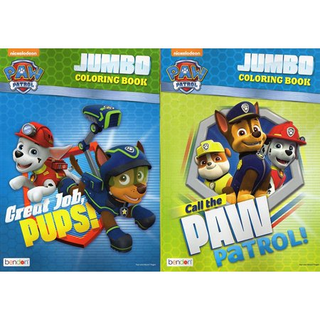 Paw Patrol Jumbo Coloring and Activity Book - Call the Paw / Great Job, Pups [Set of 2 Books] - v1, [Set of 2 Books] These coloring books will provide many hours.., By Coloring Activity Book From USA