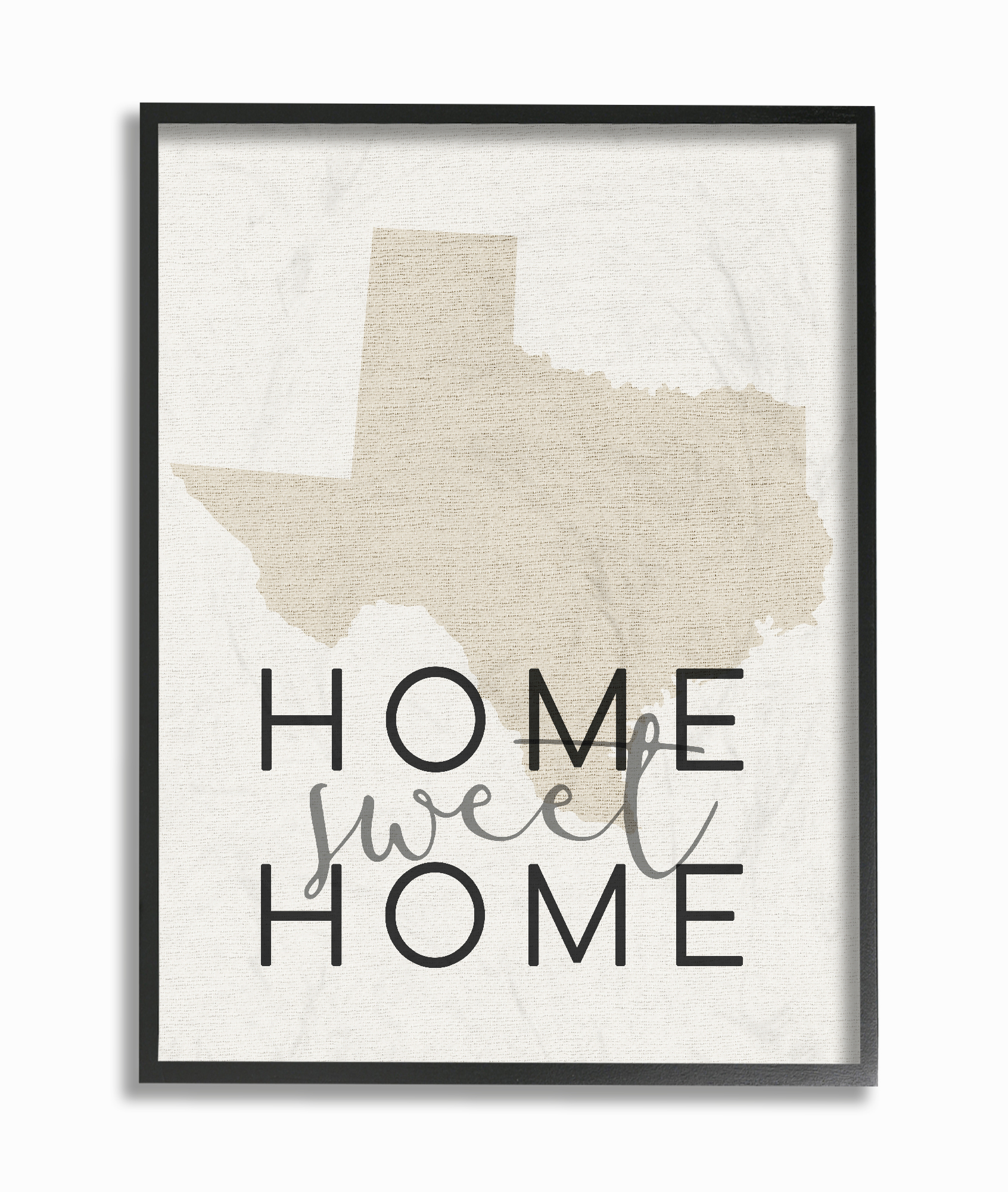 The Stupell Home Decor Collection Home Sweet Home Texas Typography Oversized Framed Giclee... by Stupell Industries