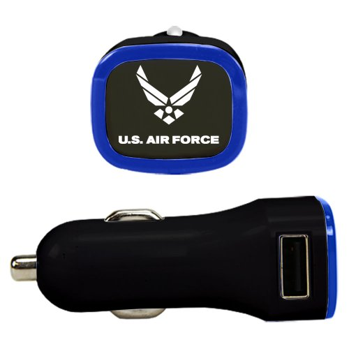 US Air Force - Dual USB Car Charger Black