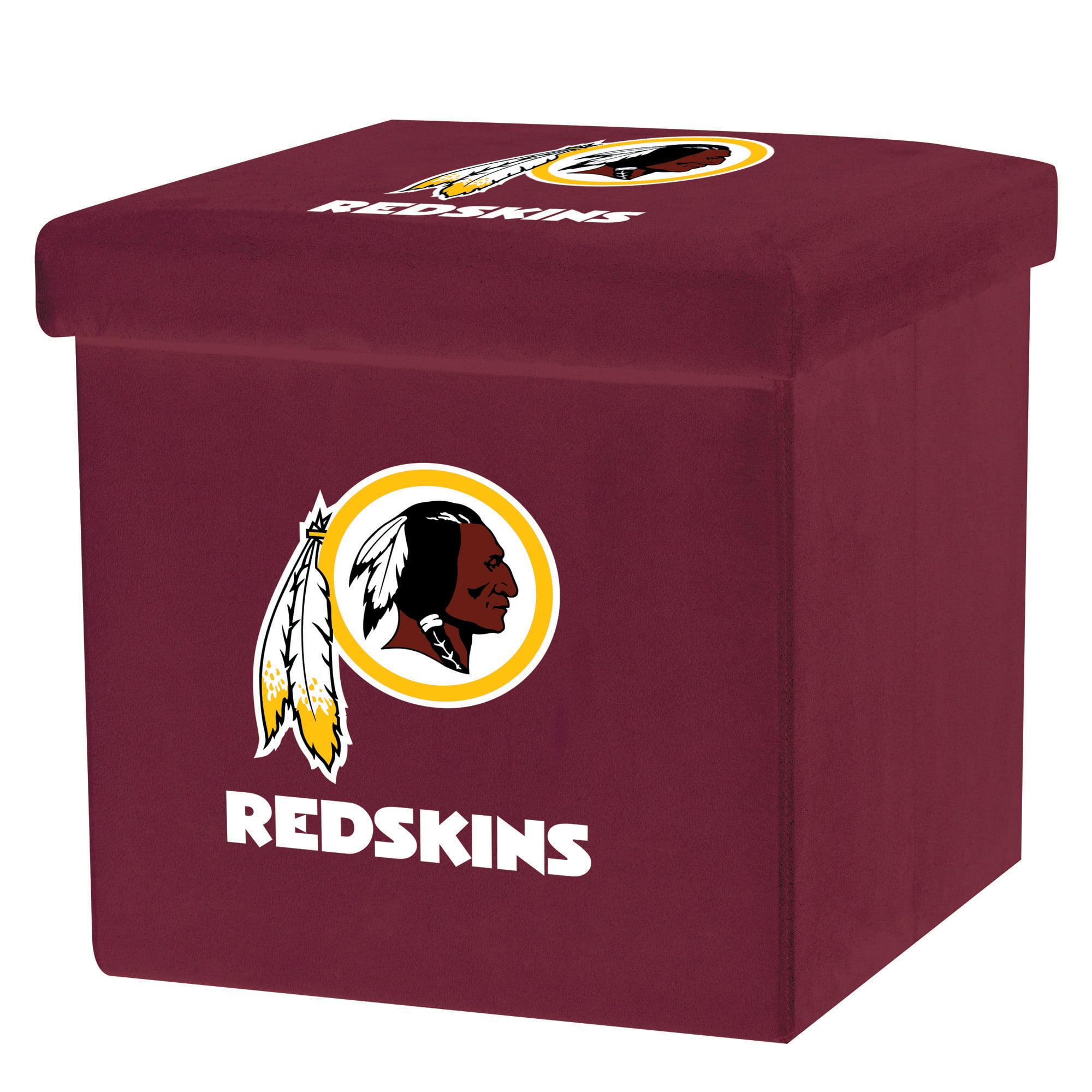 Franklin Sports NFL Washington Redskins Storage Ottoman with Detachable Lid