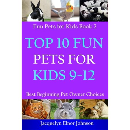 Top 10 Fun Pets for Kids 9-12 - eBook (Top Ten Best Pets For Kids)