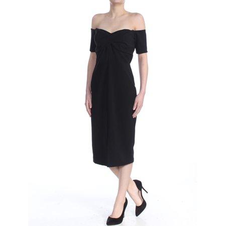 Off-the-Shoulder Twisted Crepe (Ben Sherman Womens Dress)
