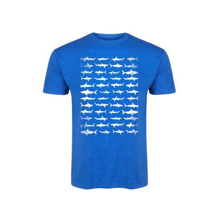 Shark Pattern Print Hammerhead Great White Animal Fashion Novelty-Mens T-Shirt