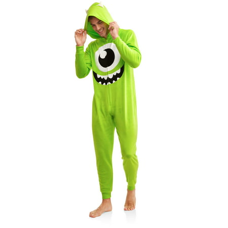 Pixar Monster's Inc Men's Mike Wazowski Onesie Union Suit, Plus Size, Size: 3X