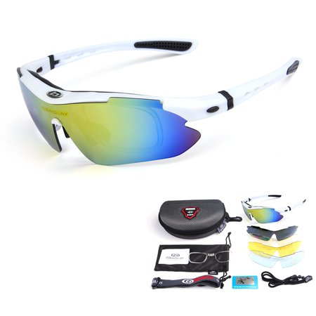 Polarized Cycling Sunglasses Bike Bicycle UV400 Goggles Sports Driving Motorcycling Fishing Skating Traveling Eyewear (Best Brand Of Sunglasses For The Money)