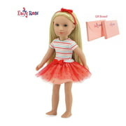 "Glitter Girls Doll Clothes by Emily Rose 14 Inch Doll Clothes for Wellie Wishers | 3 piece 14"" Doll Coral Tutu Outfit 