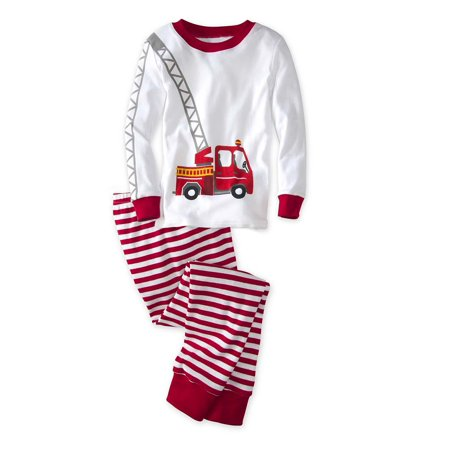 dcdaa4f17 CWDkids Fire Truck Long Sleeve Top   Pants Pajamas - Walmart.com