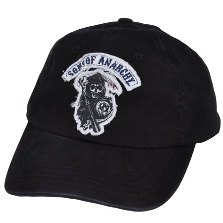 Sons Of Anarchy Distressed Reaper TV Show Garment Wash Flex Fit One Size Hat