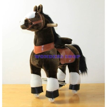 pony beyond shop ponycycle cycle ride on horse no need battery no electric just walking horse chocolate brown - size small for children 3 to 5 years old or up to 55 (Best Rocking Horse For 3 Year Old)
