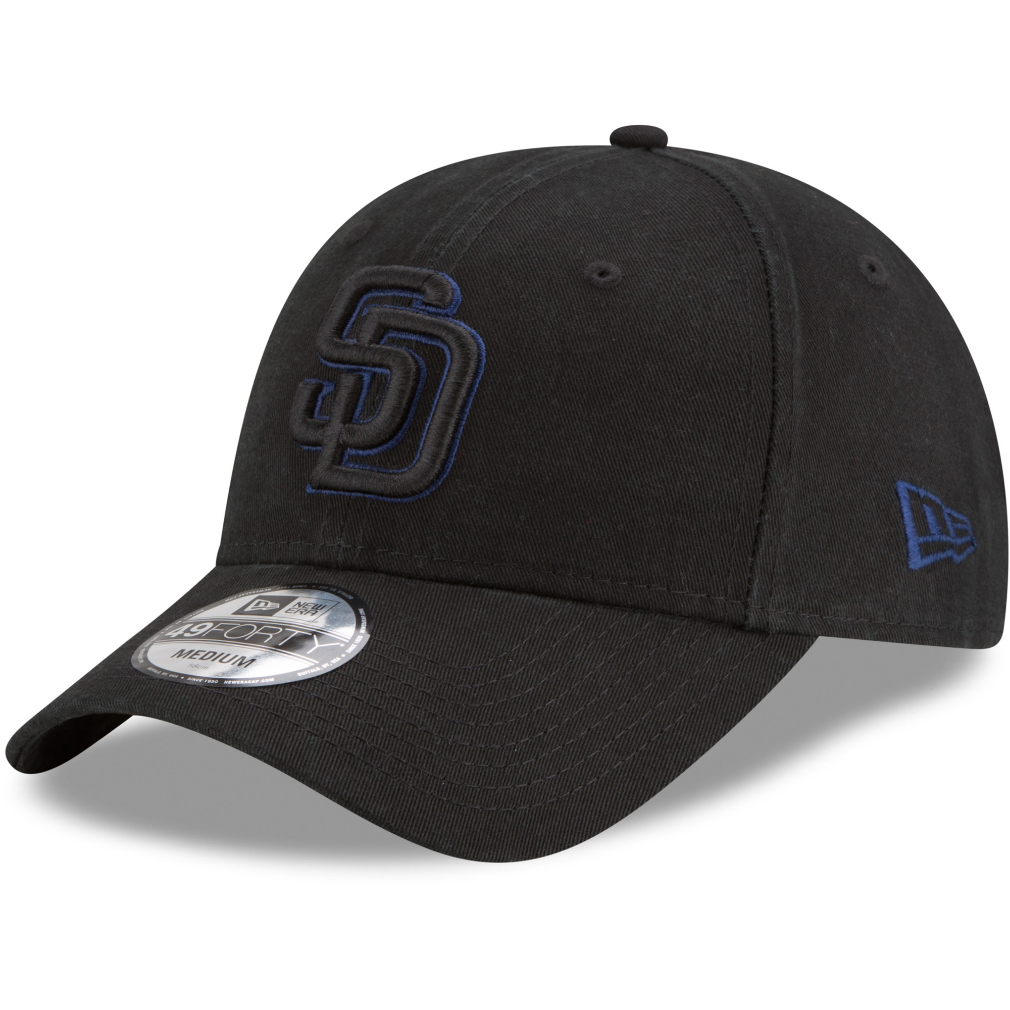 San Diego Padres New Era Core Pop 49FORTY Fitted Hat - Black