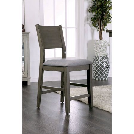 Furniture Of America Pallo Contemporary Style Padded Counter Height Dining Chair