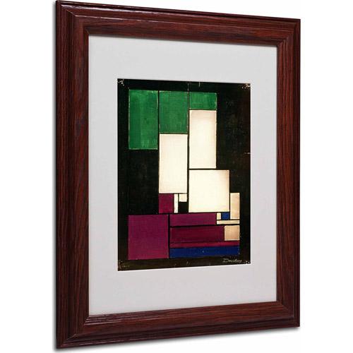 "Trademark Fine Art ""Composition, 1922"" Matted Framed Art by Theo van Doesburg, Wood Frame"