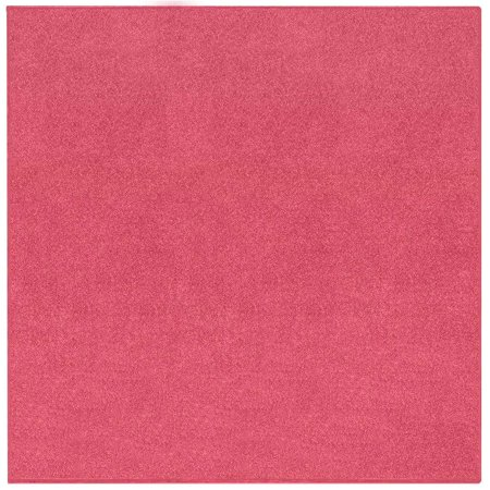 Broadway Collection Solid Color Area Rugs Pink - 4' Square
