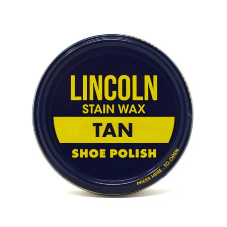 Lincoln Stain Wax Shoe Polish 2 1/8 oz - (Brown Cherry Stained Finish)
