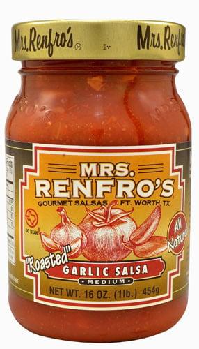 Mrs. Renfro's Gourmet Salsa Roasted Garlic 16 oz by Mrs. Renfro's