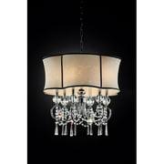 "OK Lighting Nuvola Crystal Ceiling Lamp, 25"""