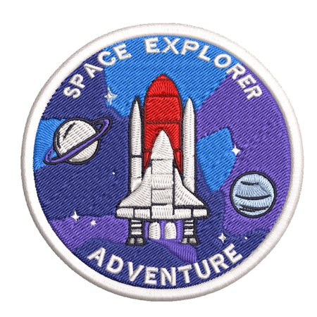 """NASA Space Explorer 3.5"""" Embroidered Patch Iron Sew-on Exploration Science Series Astronaut Shuttle Rocket SpaceX Station Galaxy Universe Mars Stars Earth Sun Moon Souvenir Travel Vacation"""