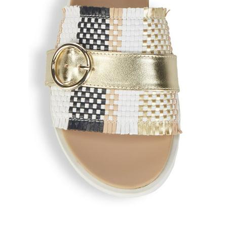 Best Ivena Basketweave Buckle Sandals deal