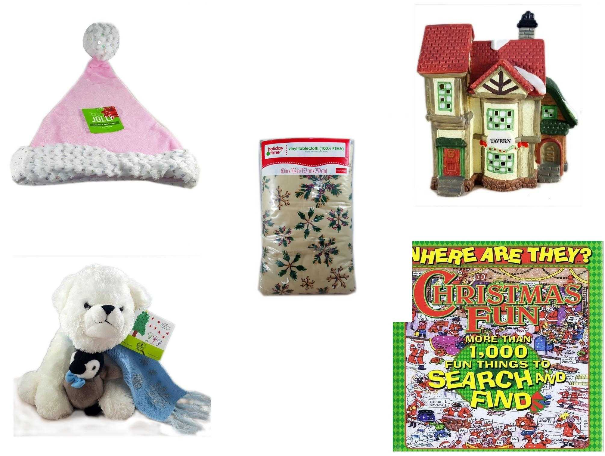 Christmas Fun Gift Bundle 5 Piece Be Jolly Pink Santa