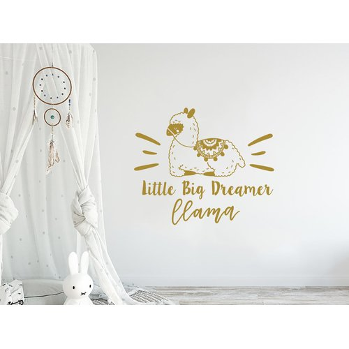 Harriet Bee Little Big Dreamer Llama Quote Nursery Wall Decal