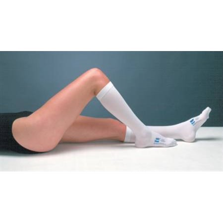 TED Anti Embolism Stockings, Knee-High Hose, Large, Regular, White Inspection Toe, 7203