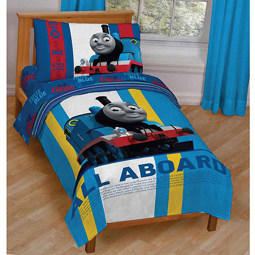 Thomas and Friends 3-Piece Toddler Bedding Set with BONUS Matching Pillow Case
