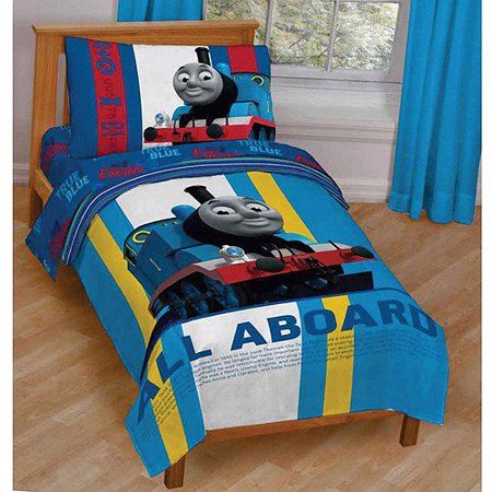 Thomas and Friends 3 Piece Toddler Bedding Set with BONUS Matching Pillow  Case. Thomas and Friends 3 Piece Toddler Bedding Set with BONUS Matching