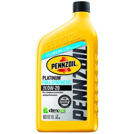 Pennzoil Platinum 0W-20 Full Synthetic Dexos Motor Oil, 1 qt