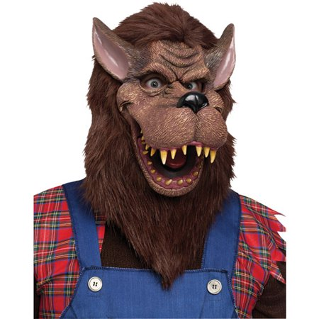 Adult Big Bad Wolf Animal Fairytale Halloween Mask](Big Bad Wolf Mens Costume)