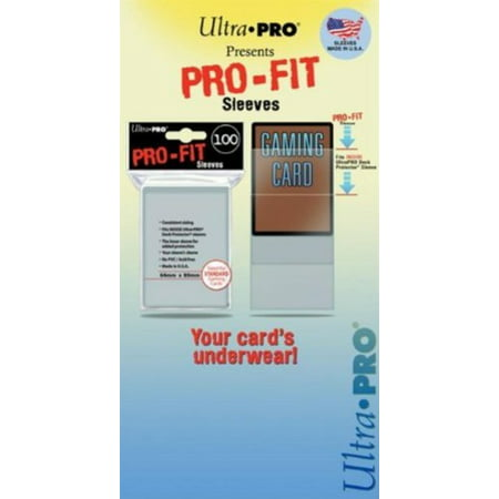 Ultra-Pro Standard Pro-Fit Transparent Clear Sleeves (100/Pack) 89mm x 64mm -