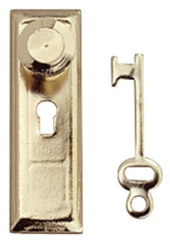 Dollhouse Miniatures 1:12 Scale Door Knob Brass 6//Pk #CLA05607
