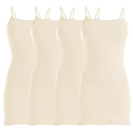 - Basic Spaghetti Strap Cami Cotton Tank Top