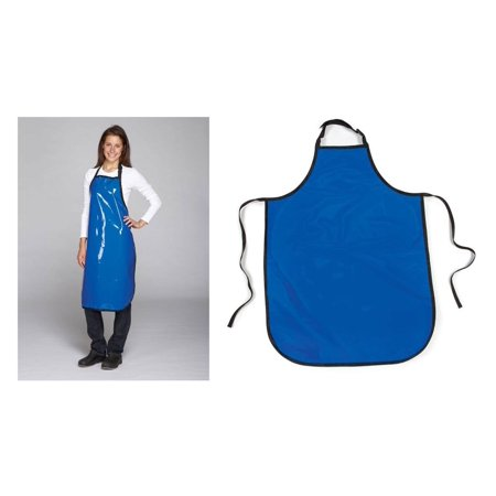 Value Grooming Aprons Water Resistant Vinyl Apron for Dog & Cat Groomers Salon (Value - Blue)