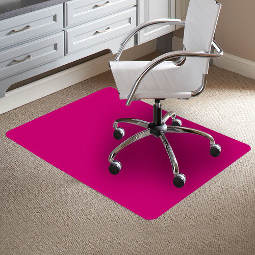 ES Robbins Corporation TrendSetter Rectangle Flat to Low Pile Carpet Straight Edge Chair Mat