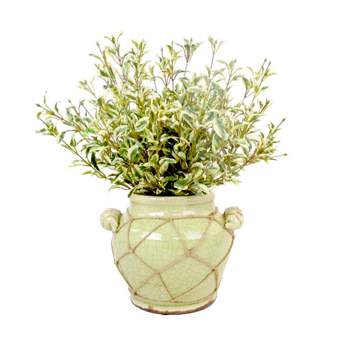 Creative Displays, Inc. Oregano Distressed Glaze Planter with Jute Trim