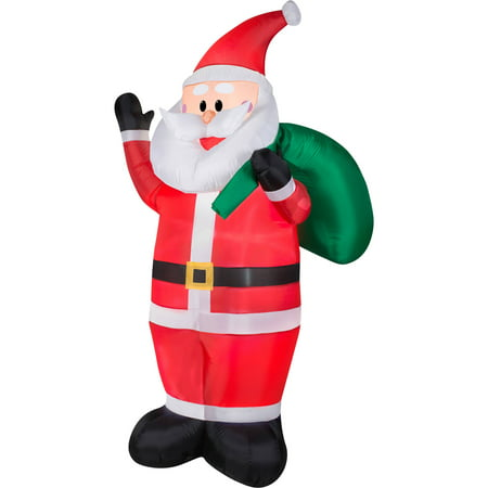 Christmas Inflatables Clearance.Gemmy Airblown Christmas Inflatables 7 Waving Santa
