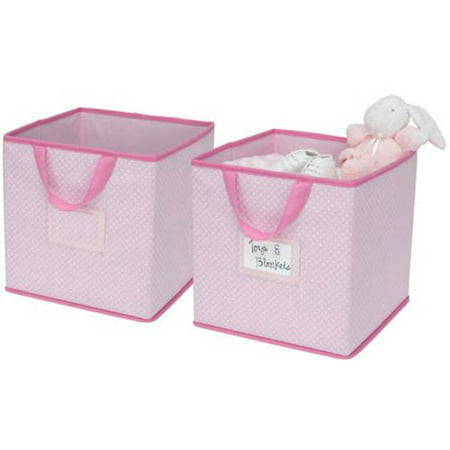 Delta Children 2-Piece Printed Storage Boxes - Barely Pink