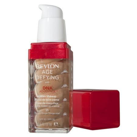 Revlon Age Defying with DNA Advantage Cream Makeup, 35 Honey Beige, 1 fl - Old Age Stipple Makeup