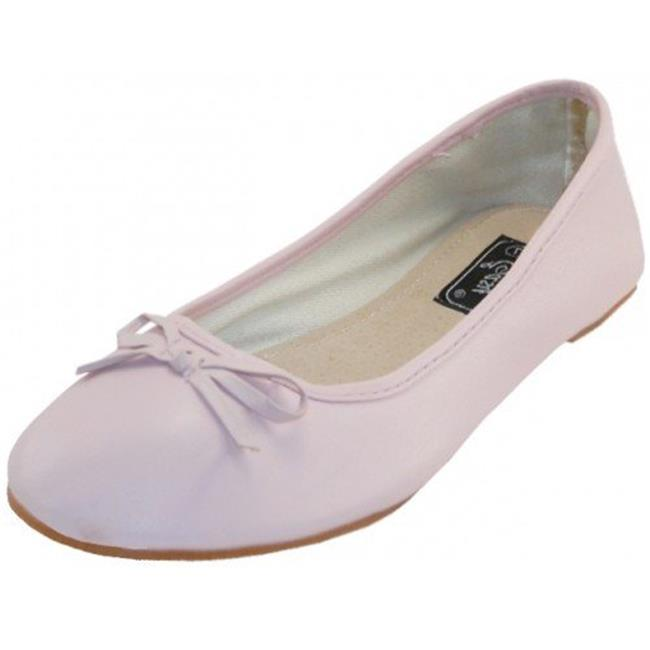 Easy USA 1934283 Womens Ballerina Shoe, 18 Pairs, Pink - Case of 18