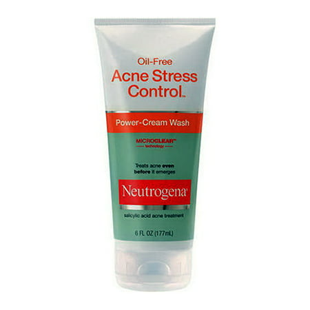 Neutrogena Oil Free Acne Stress Control Power Cream Face Wash   6 Oz  2 Pack