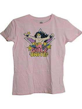 528df8c35f2 Product Image Wonder Woman Girls Distressed Logo Juniors Girls T-Shirt  (Large). DC