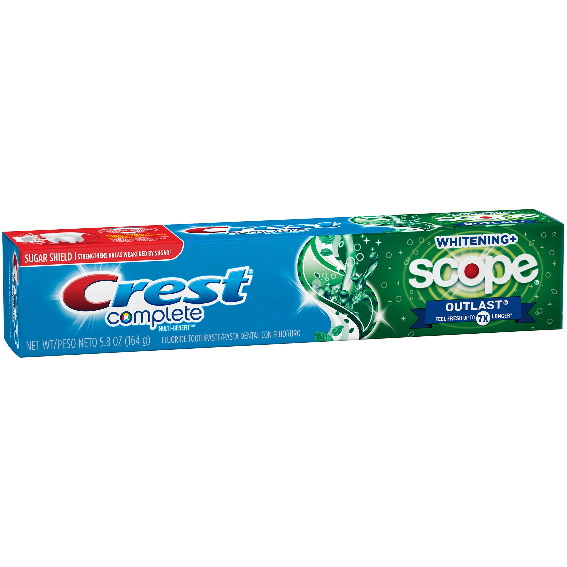 Crest Complete Whitening + Scope Outlast Mint Toothpaste, 5.8 Oz