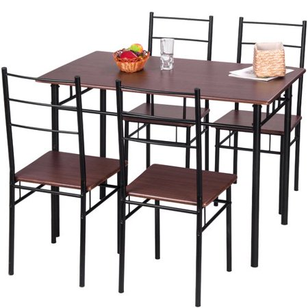 Merax 5 piece dining table set for Table induction 71 x 52